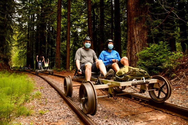 A bucket list trip: Pedal through a Northern California forest on old railroad tracks