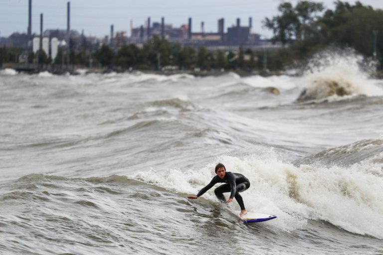 Photo of the Day: September Surfing on Lake Michigan